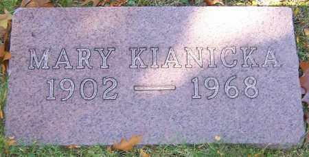 KIANICKA, MARY - Stark County, Ohio   MARY KIANICKA - Ohio Gravestone Photos