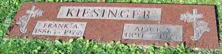 KIESINGER, ALICE V. - Stark County, Ohio | ALICE V. KIESINGER - Ohio Gravestone Photos