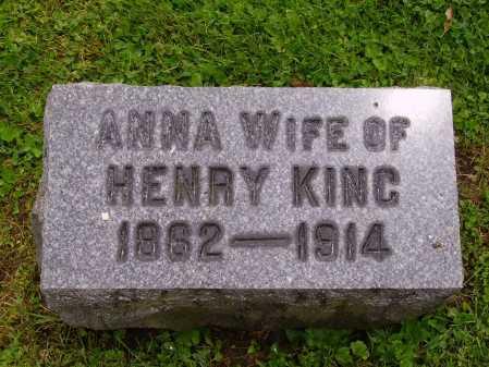 RIDER KING, ANNA - Stark County, Ohio | ANNA RIDER KING - Ohio Gravestone Photos
