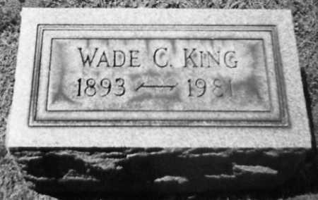 KING, WADE C. - Stark County, Ohio   WADE C. KING - Ohio Gravestone Photos
