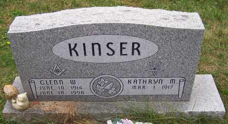 KINSER, KATHRYN M. - Stark County, Ohio | KATHRYN M. KINSER - Ohio Gravestone Photos