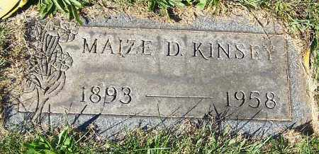 KINSEY, MAIZE D. - Stark County, Ohio | MAIZE D. KINSEY - Ohio Gravestone Photos