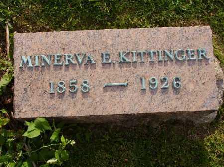 MILLER KITTINGER, MINERVA E. - Stark County, Ohio | MINERVA E. MILLER KITTINGER - Ohio Gravestone Photos