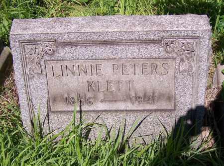 KLETT, LINNIE PETERS - Stark County, Ohio   LINNIE PETERS KLETT - Ohio Gravestone Photos