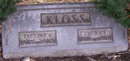 KLOSS, LAURA E. - Stark County, Ohio   LAURA E. KLOSS - Ohio Gravestone Photos