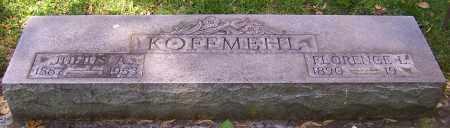 KOFFMEHL, JULIUS A. - Stark County, Ohio   JULIUS A. KOFFMEHL - Ohio Gravestone Photos