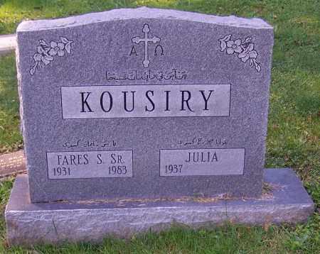 KOUSIRY, FARES S. SR. - Stark County, Ohio | FARES S. SR. KOUSIRY - Ohio Gravestone Photos