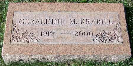 KRABILL, GERALDINE M. - Stark County, Ohio   GERALDINE M. KRABILL - Ohio Gravestone Photos