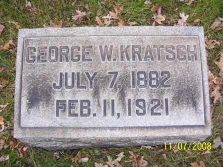 KRATSCH, GEORGE W. - Stark County, Ohio | GEORGE W. KRATSCH - Ohio Gravestone Photos