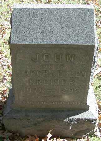 KREIDER, JOHN - Stark County, Ohio | JOHN KREIDER - Ohio Gravestone Photos