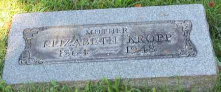 KROPP, ELIZABETH - Stark County, Ohio   ELIZABETH KROPP - Ohio Gravestone Photos