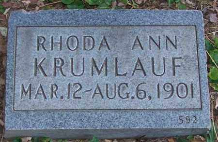 KRUMLAUF, RHODA ANN - Stark County, Ohio | RHODA ANN KRUMLAUF - Ohio Gravestone Photos
