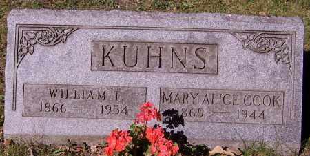 KUHNS, MARY ALICE COOK - Stark County, Ohio | MARY ALICE COOK KUHNS - Ohio Gravestone Photos