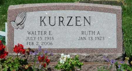 KURZEN, WALTER E. - Stark County, Ohio | WALTER E. KURZEN - Ohio Gravestone Photos