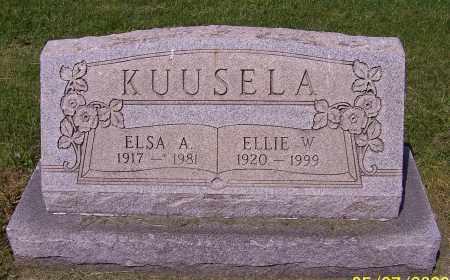 KUUSELA, ELLIE W. - Stark County, Ohio | ELLIE W. KUUSELA - Ohio Gravestone Photos