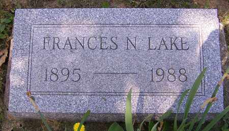 LAKE, FRANCES N. - Stark County, Ohio | FRANCES N. LAKE - Ohio Gravestone Photos