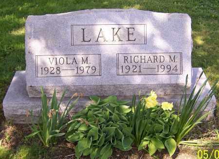 LAKE, RICHARD M. - Stark County, Ohio | RICHARD M. LAKE - Ohio Gravestone Photos
