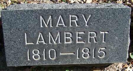 LAMBERT, MARY - Stark County, Ohio | MARY LAMBERT - Ohio Gravestone Photos