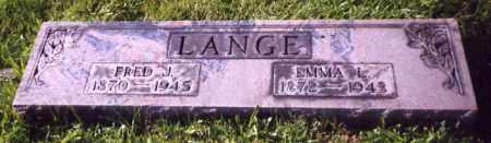 LANGE, EMMA L. - Stark County, Ohio | EMMA L. LANGE - Ohio Gravestone Photos