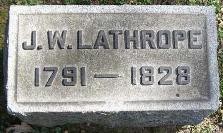 LATHROPE, J.W. - Stark County, Ohio   J.W. LATHROPE - Ohio Gravestone Photos
