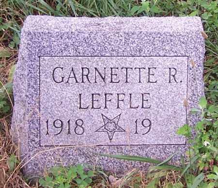 LEFFLE, GARNETTE R. - Stark County, Ohio | GARNETTE R. LEFFLE - Ohio Gravestone Photos
