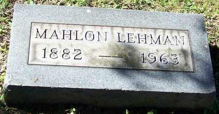 LEHMAN, MAHLON - Stark County, Ohio | MAHLON LEHMAN - Ohio Gravestone Photos