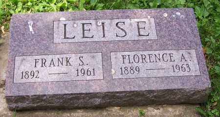 LEISE, FLORENCE A. - Stark County, Ohio | FLORENCE A. LEISE - Ohio Gravestone Photos