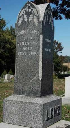 LENZ, JOHN F. - Stark County, Ohio | JOHN F. LENZ - Ohio Gravestone Photos