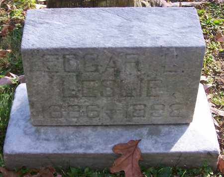 LESLIE, EDGAR - Stark County, Ohio | EDGAR LESLIE - Ohio Gravestone Photos