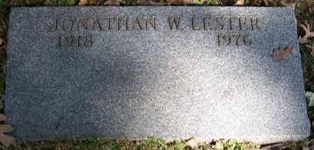 LESTER, JONATHAN W. - Stark County, Ohio   JONATHAN W. LESTER - Ohio Gravestone Photos