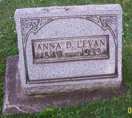 BARTO LEVAN, ANNA D. - Stark County, Ohio | ANNA D. BARTO LEVAN - Ohio Gravestone Photos