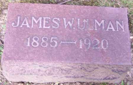 ULMAN, JAMES W. - Stark County, Ohio | JAMES W. ULMAN - Ohio Gravestone Photos