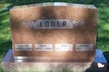 LODER, JOHN - Stark County, Ohio | JOHN LODER - Ohio Gravestone Photos