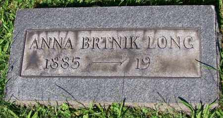 LONG, ANNA BRTNIK - Stark County, Ohio | ANNA BRTNIK LONG - Ohio Gravestone Photos