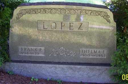 LOPEZ, THELMA E. - Stark County, Ohio   THELMA E. LOPEZ - Ohio Gravestone Photos