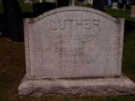 LUTHER, MARY CATHARINE - Stark County, Ohio | MARY CATHARINE LUTHER - Ohio Gravestone Photos