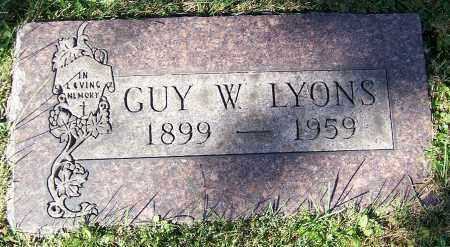 LYONS, GUY W. - Stark County, Ohio   GUY W. LYONS - Ohio Gravestone Photos