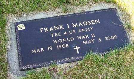 MADSEN, FRANK I - Stark County, Ohio | FRANK I MADSEN - Ohio Gravestone Photos