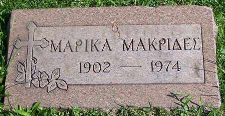 MAKRIDES, MARIKA - Stark County, Ohio | MARIKA MAKRIDES - Ohio Gravestone Photos