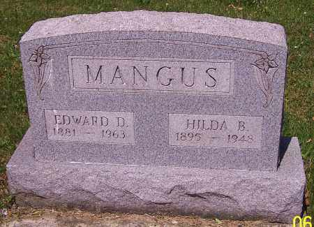 MANGUS, EDWARD D. - Stark County, Ohio | EDWARD D. MANGUS - Ohio Gravestone Photos
