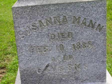 MANN, SUSANNA - Stark County, Ohio   SUSANNA MANN - Ohio Gravestone Photos