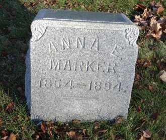 MARKER, ANNA E. - Stark County, Ohio | ANNA E. MARKER - Ohio Gravestone Photos