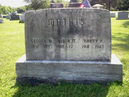 MATHIS, GEORGE W. - Stark County, Ohio | GEORGE W. MATHIS - Ohio Gravestone Photos