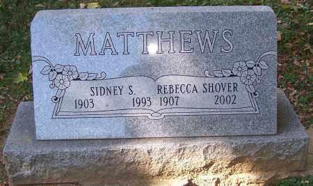 MATTHEWS, REBECCA SHOVER - Stark County, Ohio | REBECCA SHOVER MATTHEWS - Ohio Gravestone Photos