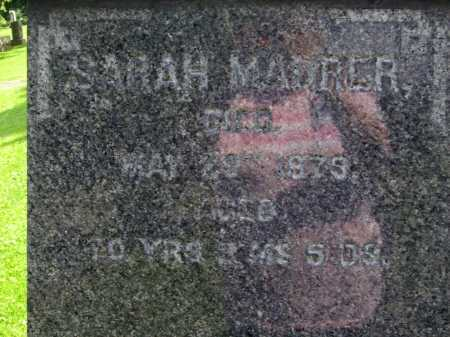MAURER, SARAH - Stark County, Ohio | SARAH MAURER - Ohio Gravestone Photos