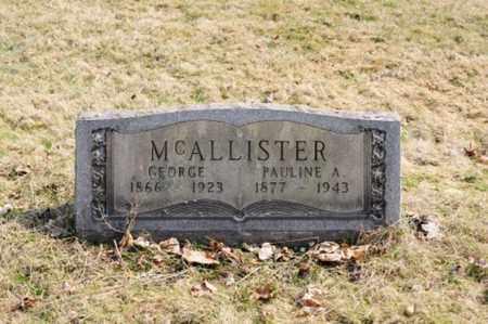 MCALLISTER, PAULINE A - Stark County, Ohio | PAULINE A MCALLISTER - Ohio Gravestone Photos