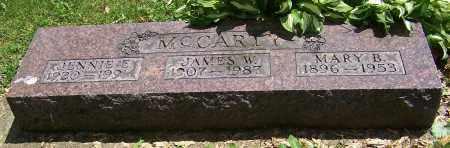 MCCARTY, JENNIE E. - Stark County, Ohio | JENNIE E. MCCARTY - Ohio Gravestone Photos