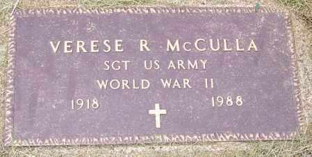 MCCULLA, VERESE R.   (MIL) - Stark County, Ohio   VERESE R.   (MIL) MCCULLA - Ohio Gravestone Photos