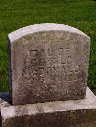 MCDONALD, UNKNOWN DAUGHTER - Stark County, Ohio | UNKNOWN DAUGHTER MCDONALD - Ohio Gravestone Photos