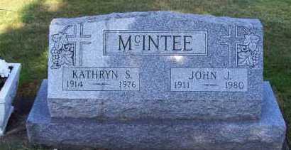 MCINTEE, JOHN J. - Stark County, Ohio | JOHN J. MCINTEE - Ohio Gravestone Photos